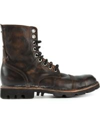 Diesel Steel Lace Up Boots - Lyst