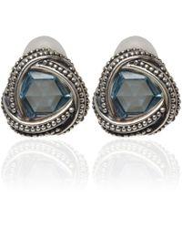 Stephen Dweck - Silver Blue Topaz Clip-On Earrings - Lyst