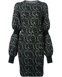 Alexander McQueen Ivy Jacquard Pencil Dress - Lyst