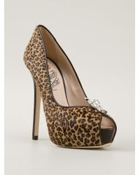 d7d37fb273e5 Embellished Heel Pump. £684 Sold out. Farfetch · John Richmond Black Label  - Leopard Print Stiletto - Lyst