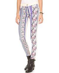 James Jeans Twiggy Front Zip Skinny Jeans - Lyst