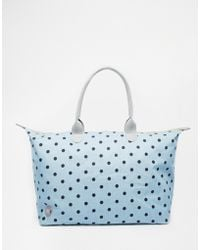 Mi-Pac - Weekender Bag In Denim Chambray With Polka Dot - Lyst