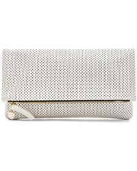 Clare V. Beige Foldover Clutch - Lyst