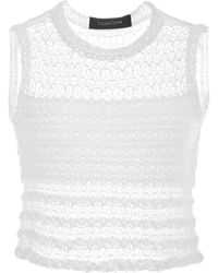 Thakoon   Sleevelees Cropped Knit Top   Lyst