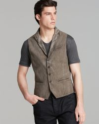 John Varvatos Collection Peak Lapel Stripe Vest - Lyst