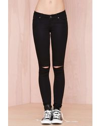 Nasty Gal Cheap Monday Slim Jeans  Black - Lyst