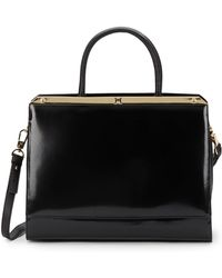 Halston Heritage Convertible Leather Toteblack - Lyst