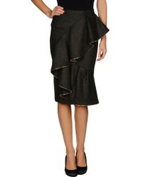 Burberry Prorsum Knee Length Skirt - Lyst