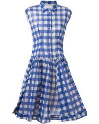 Laurence Doligé - Flared Plaid Shirt Dress - Lyst