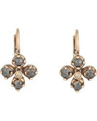 Anaconda - Women's Mixed-diamond Quadrifoglio Earrings - Lyst