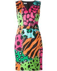 Moschino Cheap & Chic Animal-Print Cotton-Blend Dress - Lyst