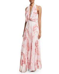 Camilla & Marc | Sleeveless Halter Floral-print Maxi Dress | Lyst