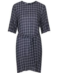 Topshop Checked Tee Dress By Boutique - Lyst