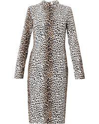 Rika Rosa Leopardprint Crepe Dress - Lyst