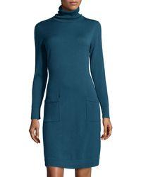 Lafayette 148 New York Merino Wool Turtleneck Sweaterdress - Lyst