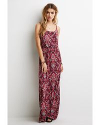 Forever 21 Paisley Print Cami Maxi Dress - Lyst