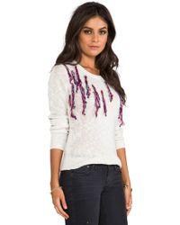 One Teaspoon Santeria Knit Jumper in Cream - Lyst