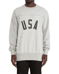 Stampd' Gray Usa Crewneck - Lyst