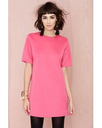 Nasty Gal Blq Basiq Structure Dress - Lyst