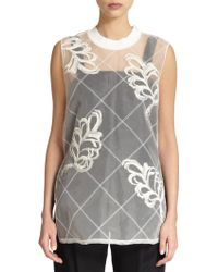 3.1 Phillip Lim Sheer Embroidered Tunic - Lyst