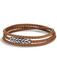 David Yurman Chevron Triplewrap Bracelet in Camel - Lyst