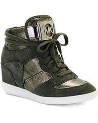 Michael by Michael Kors Nikko High Top Sneakers - Lyst