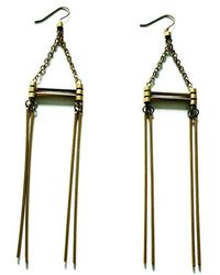 Laura Lombardi Arc Earrings - Lyst
