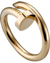 Cartier Juste Un Clou 18ct Pinkgold Ring - Lyst