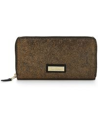 Sam Edelman - Metallic Leather Wallet - Lyst