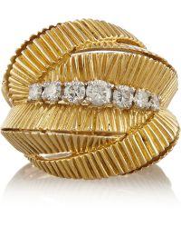 Fred Leighton - 1960S 18-Karat Gold Diamond Ring - Lyst