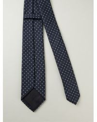 Z Zegna Blue Dotted Tie - Lyst