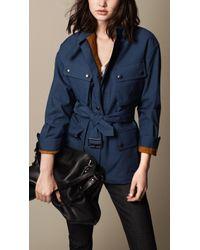 Burberry Showerproof Bonded Cotton Field Jacket - Lyst