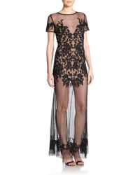 For Love & Lemons Luau Sheer Lace Gown - Lyst