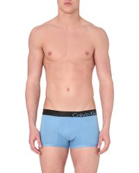 Calvin Klein Stretch-Cotton Logo Trunks - For Men - Lyst