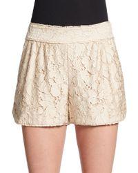 Diane von Furstenberg Madonna Lace Shorts - Lyst