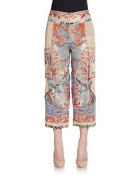 Etro Paisley-print Patchwork Cargo Pants - Lyst