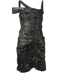 Isabel Marant Silver Sequinned Dress - Lyst