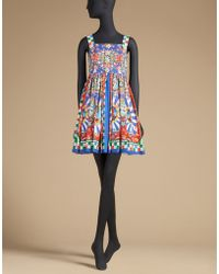 Dolce & Gabbana | Sundress In Printed Cotton | Lyst