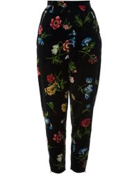 Kenzo Vintage Tapered Floral Print Trouser - Lyst