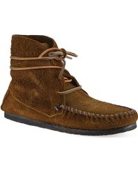 Isabel Marant Flavie Suede Moccasin Ankle Boots - Lyst