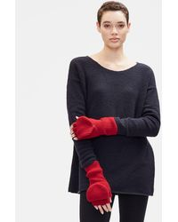 Eileen Fisher - Lofty Recycled Cashmere Glovelettes With Mitten Flaps - Lyst