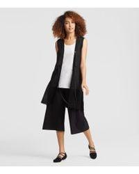 Eileen Fisher - Organic Linen Belted Vest - Lyst