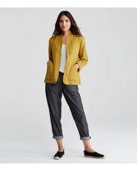 Eileen Fisher - Quilted Linen Slub Kimono Jacket - Lyst