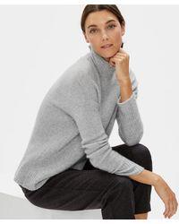 Eileen Fisher - Cashmere Silk Box-top - Lyst