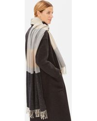 Eileen Fisher - Recycled Cotton Blocks Scarf - Lyst