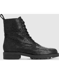 Eileen Fisher - Ripley Intaglio Leather Ankle Boot - Lyst