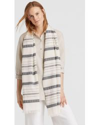 Eileen Fisher - Organic Cotton Linen Scarf - Lyst