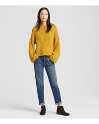 Eileen Fisher - Peruvian Organic Cotton Funnel Neck Box-top - Lyst