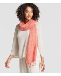 Eileen Fisher - Organic Linen Cashmere Stripe Scarf - Lyst