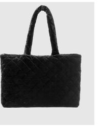 Eileen Fisher - Quilted Velvet Diamond Double Handle Bag - Lyst